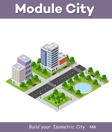 Urban infrastructure business Vettoriali