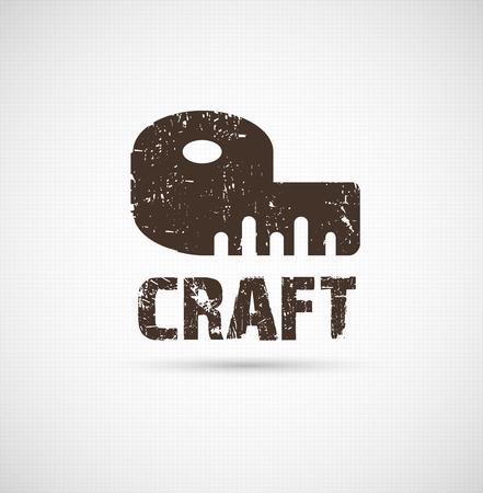 Craft logo business idea Vettoriali