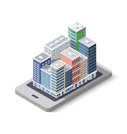 City phone concept business