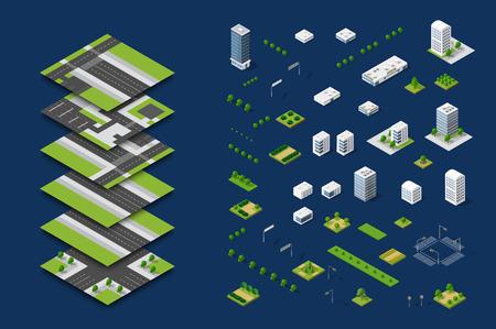 City isometric concept