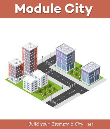 City isometric set