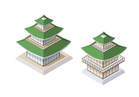 Chinese pagoda building house