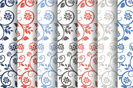 layout: Seamless floral pattern