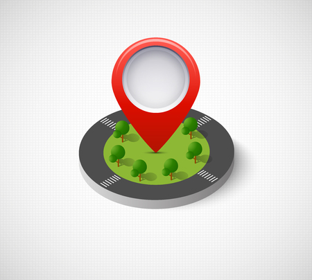 Isometric pin icon Vettoriali