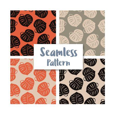 Seamless leaves pattern Vettoriali