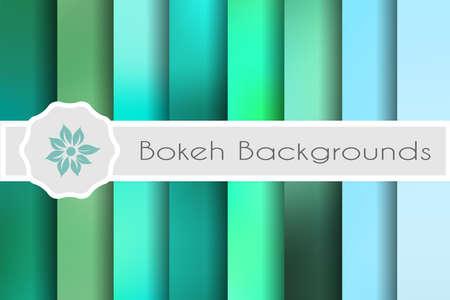 Bokeh backgrounds set