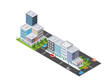 Isometric of the modern city