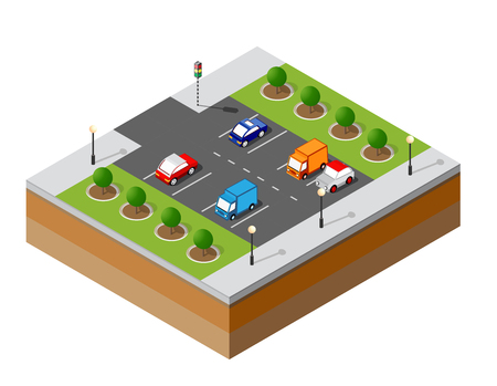 Urban isometric parking