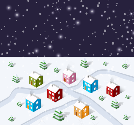 Christmas winter city