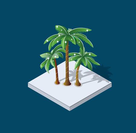 winter Christmas palm