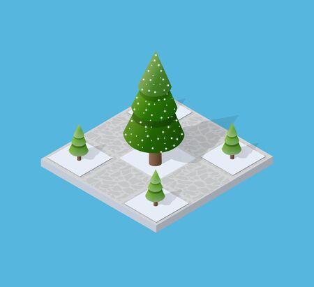 Set di neve innevato