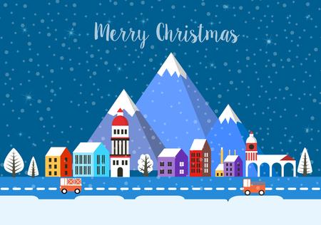 Christmas winter landscape