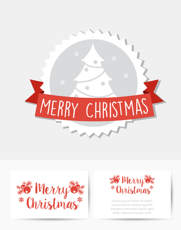 Christmas celebratory banner for design, cards, invitations and presentations. Happy holidays vector elements set.