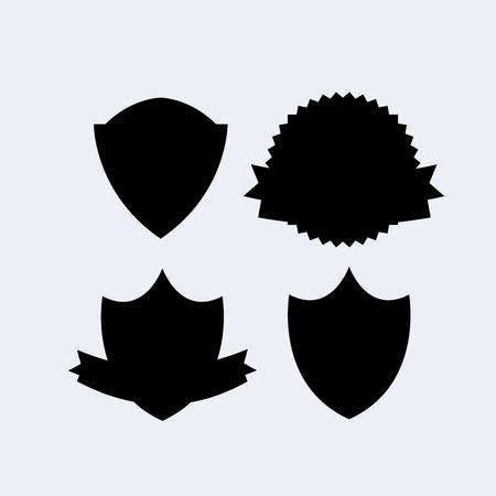Heraldry shield banner Vector illustration. Vettoriali