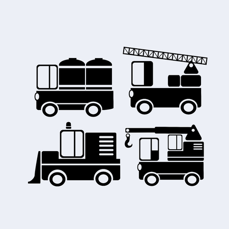 Set of car silhouettes for design, scrapbooking, collages and creativity