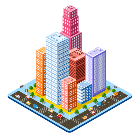 Colorful 3D isometric