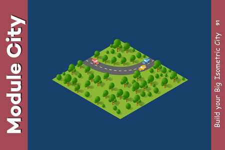 Landscape speed highway.
