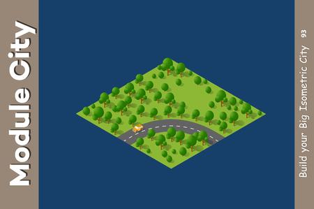 Landscape speed highway illustration.