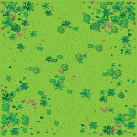 Bovenaanzicht van het landschap Vector Illustratie