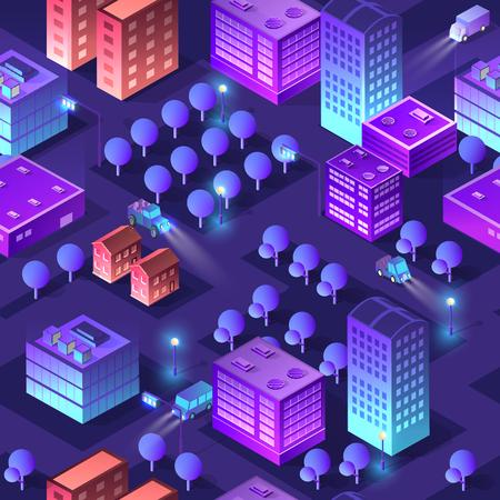 Isometric violet purple Ilustração