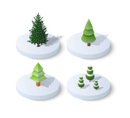 Isometric Christmas tree spruce