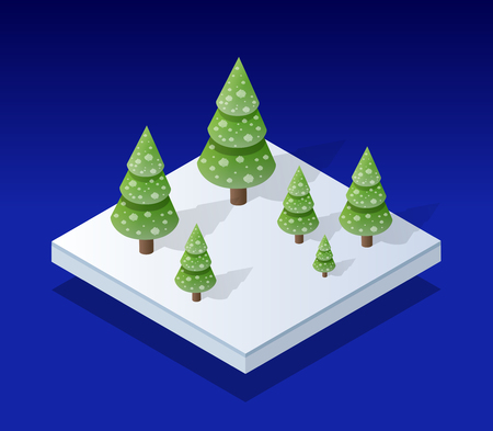 Snow covered isometric