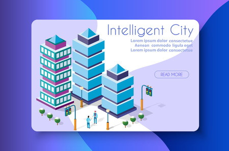 The isometric city with skyscraper from urban building vector architecture. Modern white illustration for design and business shape background