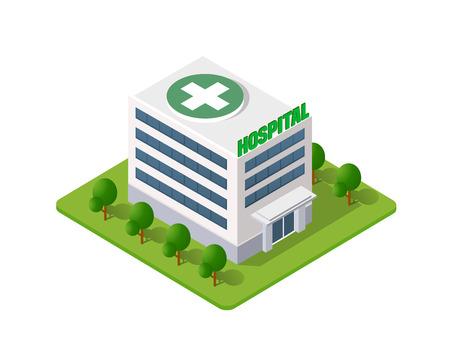 Hospital Isometric 3d Building