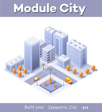 Megapolis city quarter Illustration