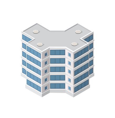 The smart building home Illustration