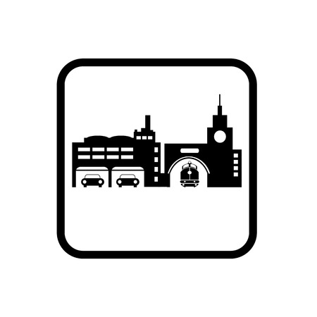 Icon symbol City Silhouette Industry Factory Illustration