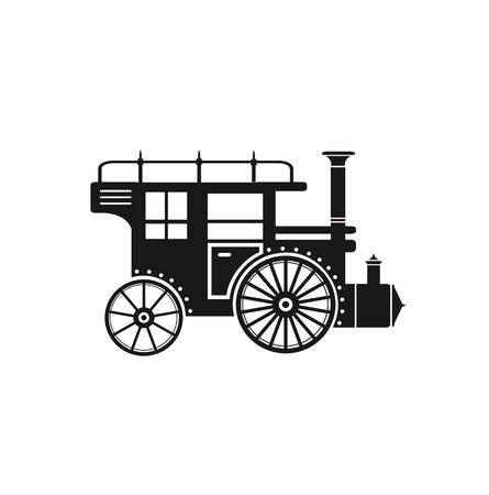 Retro car vehicle Ilustracja