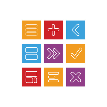 Style flat icons arithmetic