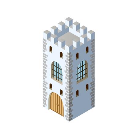 Fort fortress castle isometric Foto de archivo - 123635071