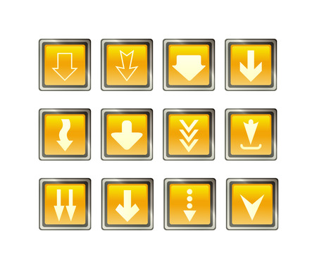 Arrows icons set of silhouettes of directional cursor signs