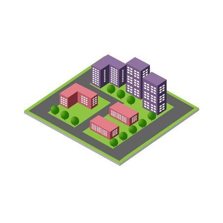 Isometric 3D module block
