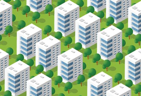 Urban isometric area Illustration