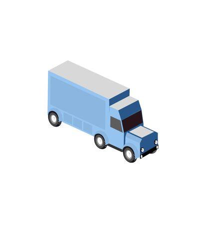 Cargo isometric trailer trucker for the transportation of goods
