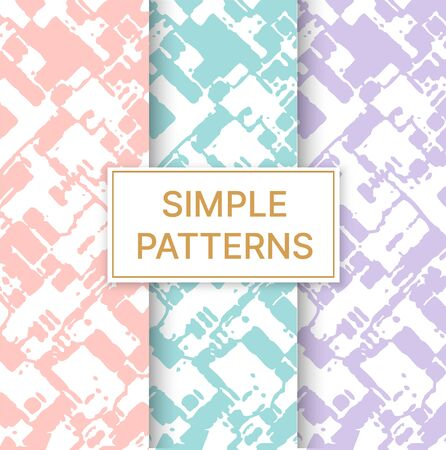 Natural decor print zebra python seamless simple pattern set digital paper with clipping mask