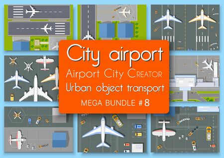 City terminal airport plan top view set