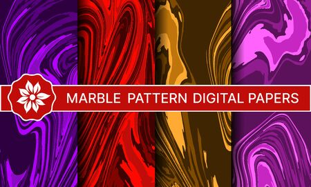 Abstract marble pattern set of backgrounds