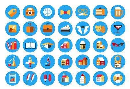 Highlights Stories Covers Icons Vektoros illusztráció