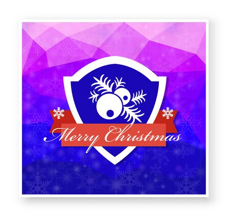 Christmas New Year celebratory banner for design, cards, invitations and presentations. Happy holidays vector elements Illustration