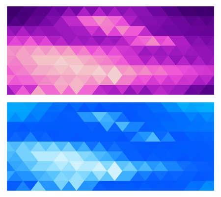 A set of multicolor polygon triangle triangular multi mosaic