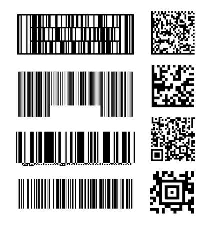 Set of abstract barcode bar code templates of scanner