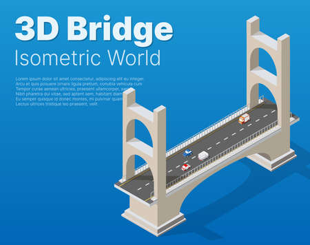 The bridge of urban infrastructure is isometric for games,