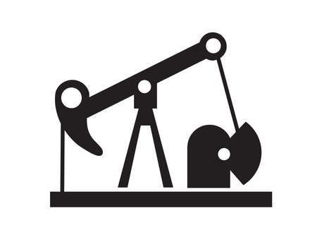 Oil well silhouette industrial facility logo urban industrial infrastructure