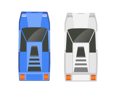Top view of a set of city urban cars for design, presentation transport traffic jam 矢量图像