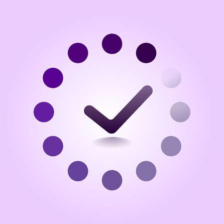 Load completed progress bar icon. Web Preloader. Loading icon. Flat design vector illustration