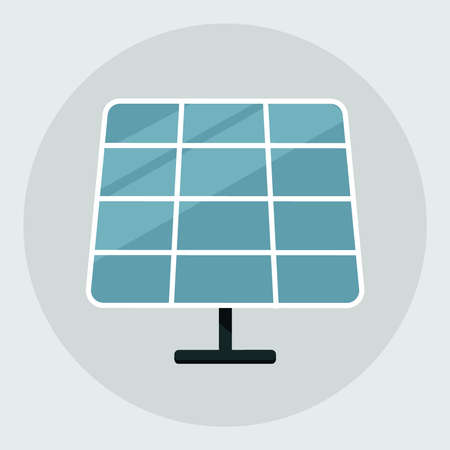 Solar energy panel. Solar panel icon isolated on grey background. vector illustration  イラスト・ベクター素材